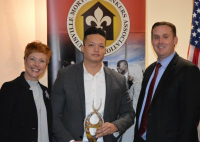 Alejandro Pousa - Award - Community Loan Originator with Gesabel Sabatela and Brad Alvey