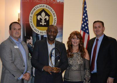 Tim Poole, Laurent Houekpon - Award - Housing Advocate, Barb Jeffries, Brad Alvey