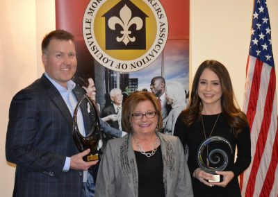 Keith Swisher - Award - Top Unit Producer, Ryan Baxter Accepting Award, Debbie Jenkins, Hannah Cecil